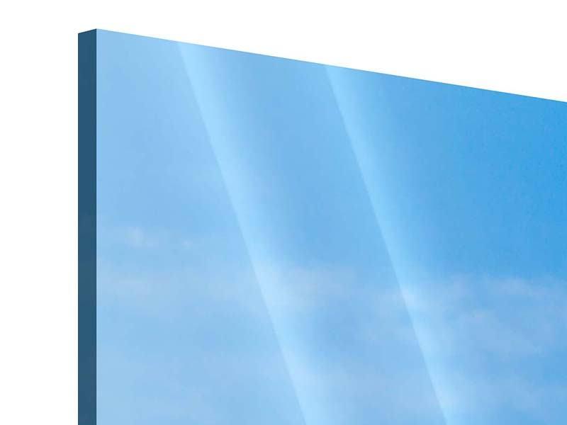 Panorama Acrylglasbild 3-teilig Das majestätische Matterhorn