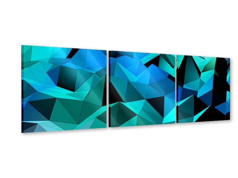 Panorama Acrylglasbild 3-teilig 3D-Diamonds