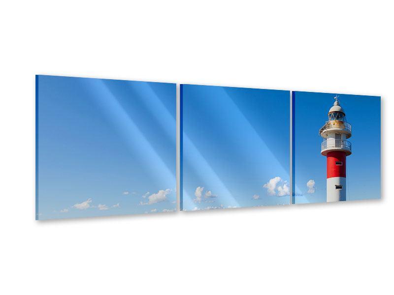 Panorama Acrylglasbild 3-teilig Leuchtturm in Punta Teno