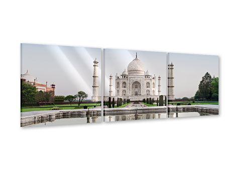 Panorama Acrylglasbild 3-teilig Taj Mahal
