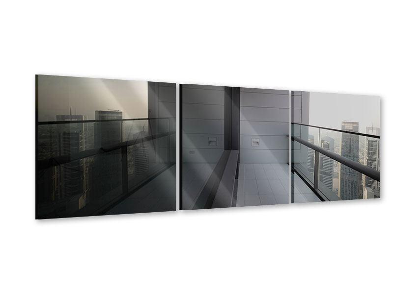 Panorama Acrylglasbild 3-teilig Balkon in Dubai