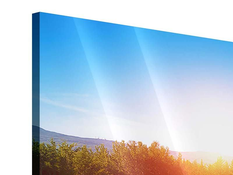 Panorama Acrylglasbild 3-teilig Der Herbst