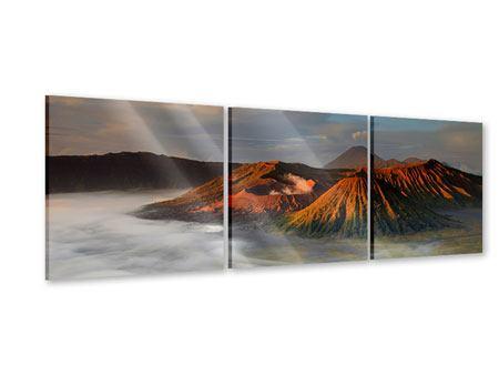 Panorama Acrylglasbild 3-teilig Der Bromo Vulkan