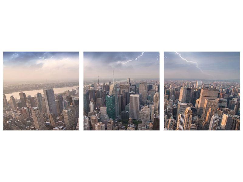 Panorama Acrylglasbild 3-teilig Manhattan