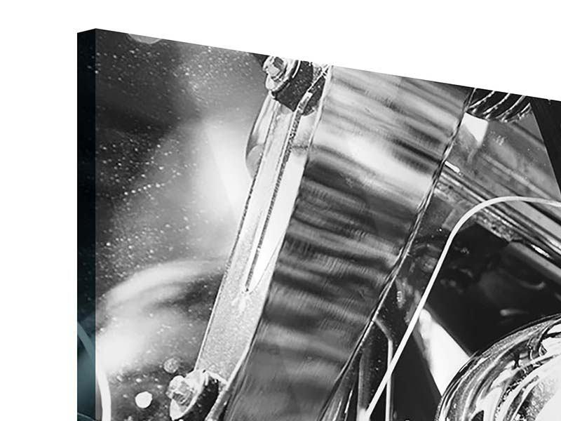Panorama Acrylglasbild 3-teilig Motorrad Close Up