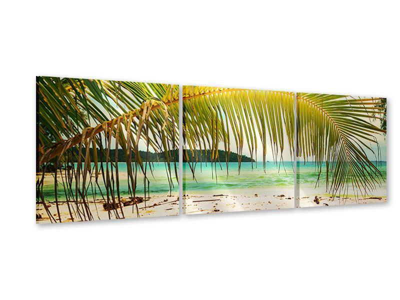 Panorama Acrylglasbild 3-teilig Ab in die Hängematte