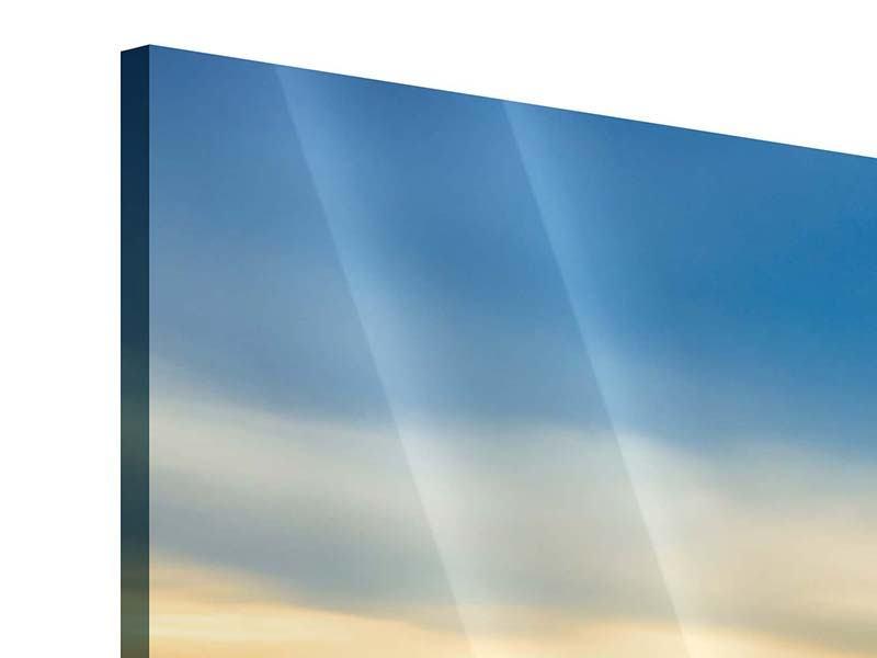 Panorama Acrylglasbild 3-teilig Brücke der Liebe
