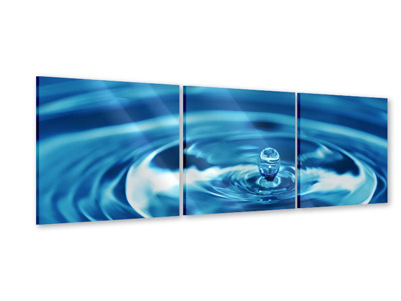 Panorama Acrylglasbild 3-teilig Der Wassertropfen