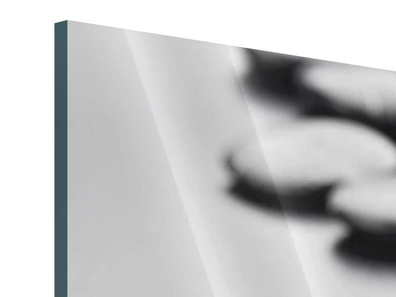 Panorama Acrylglasbild 3-teilig Polierte Steine