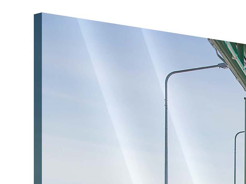 Panorama Acrylglasbild 3-teilig Die Brücke am Meer