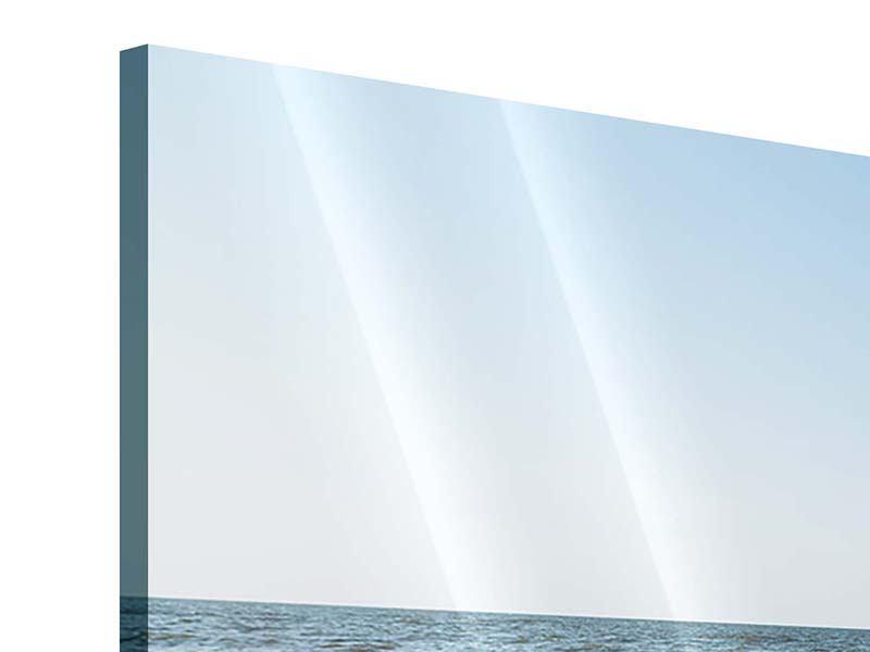 Panorama Acrylglasbild 3-teilig Sandspuren