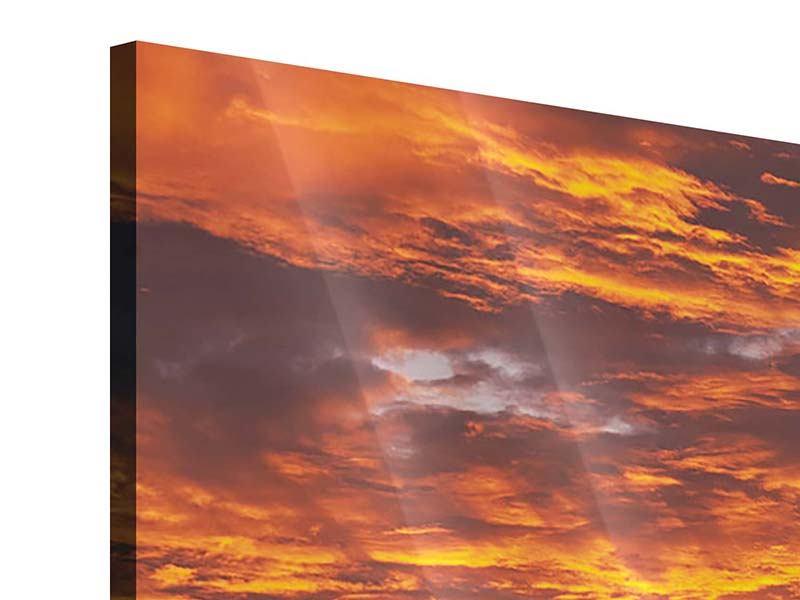 Panorama Acrylglasbild 3-teilig Entspannung am Meer