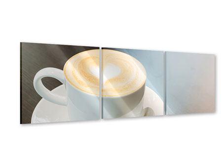 Panorama Acrylglasbild 3-teilig Lieblingskaffee