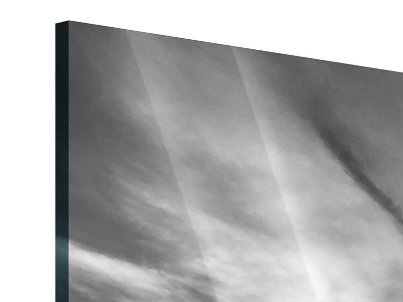 Panorama Acrylglasbild 3-teilig Yoga am Strand