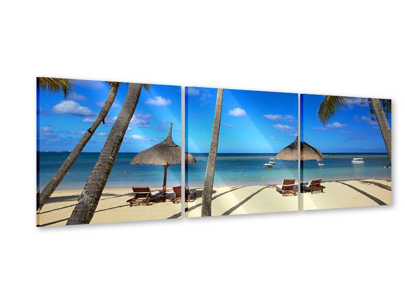 Panorama Acrylglasbild 3-teilig Mauritius