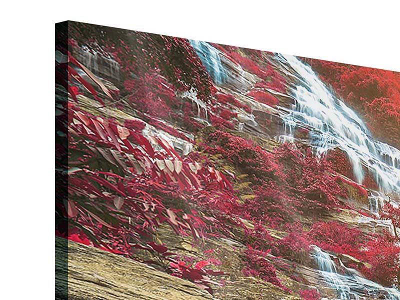 Panorama Acrylglasbild 3-teilig Exotischer Wasserfall