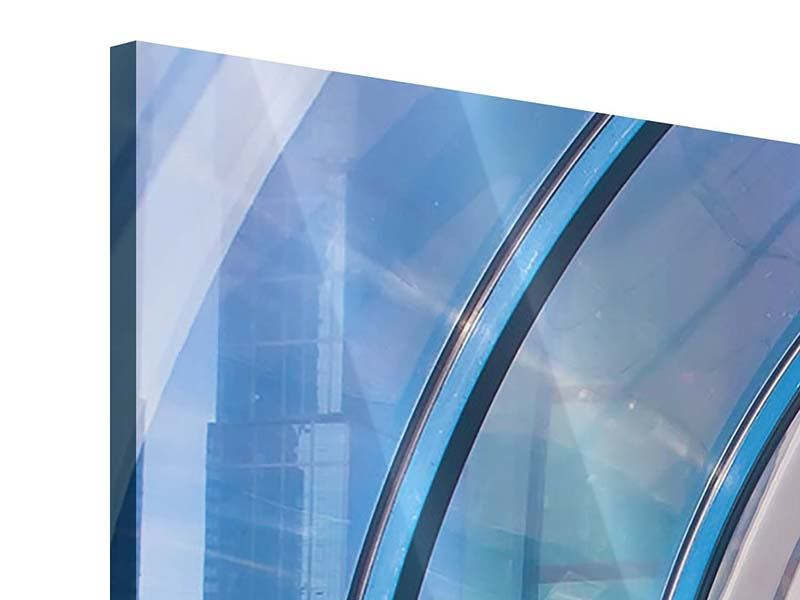Panorama Acrylglasbild 3-teilig Hypermoderne Brücke
