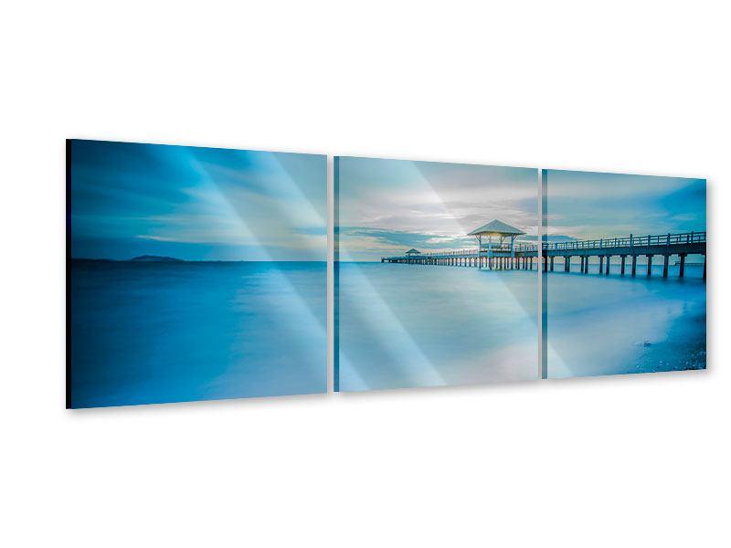 Panorama Acrylglasbild 3-teilig Brückenimpression
