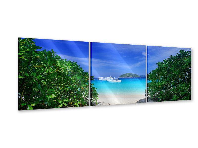 Panorama Acrylglasbild 3-teilig Similan-Inseln