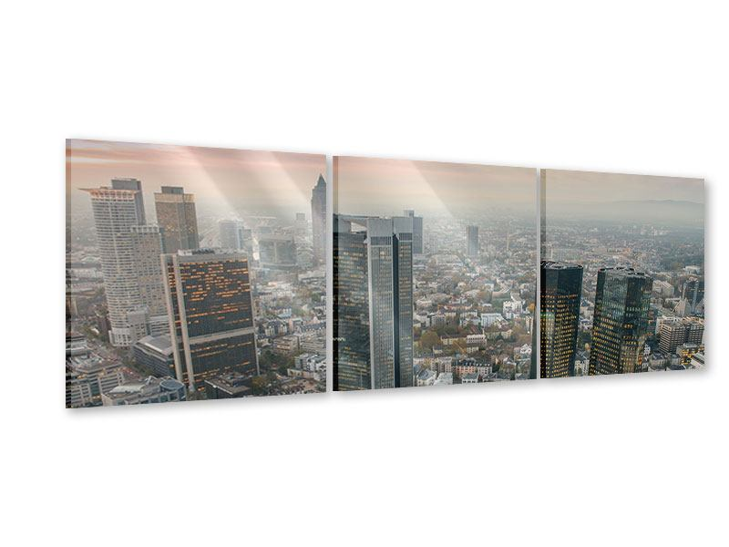 Panorama Acrylglasbild 3-teilig Skyline Penthouse in New York