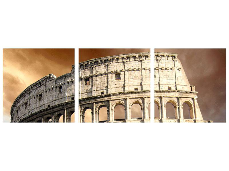 Panorama Acrylglasbild 3-teilig Kolosseum Rom