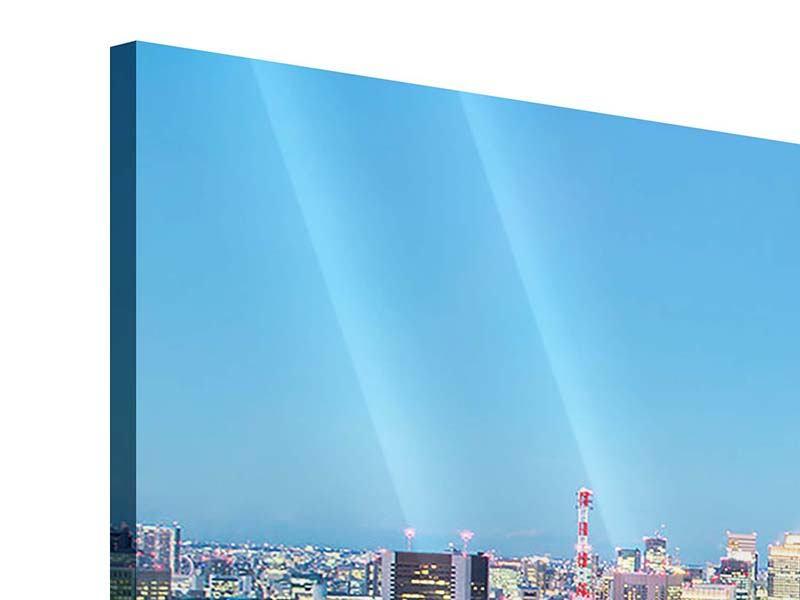 Panorama Acrylglasbild 3-teilig Skyline Tokio im Lichtermeer