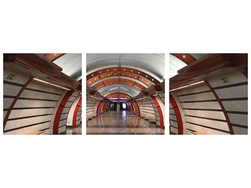 Panorama Acrylglasbild 3-teilig U-Bahn Station