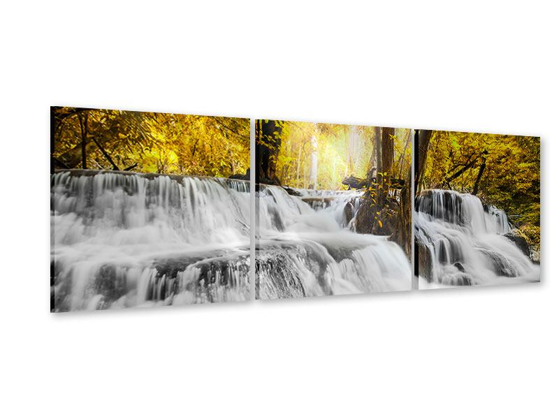 Panorama Acrylglasbild 3-teilig Wasser in Aktion