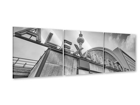 Panorama Acrylglasbild 3-teilig Alexanderplatz