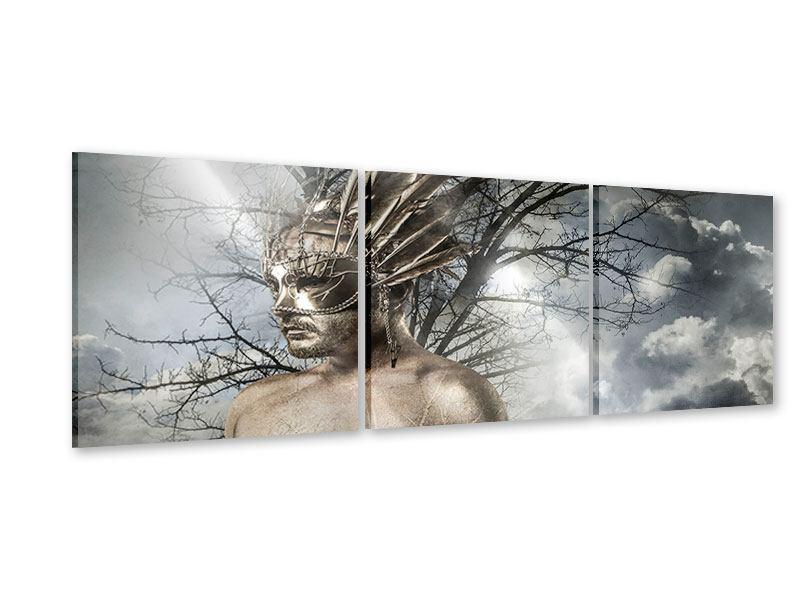 Panorama Acrylglasbild 3-teilig Gottheit
