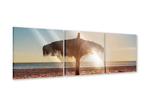 Panorama Acrylglasbild 3-teilig Der Sonnenschirm