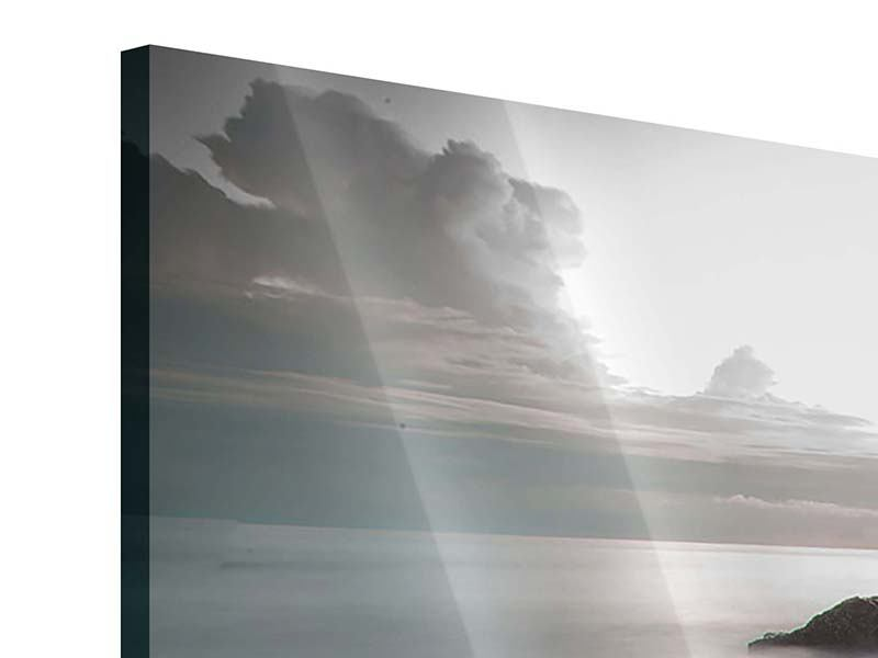 Panorama Acrylglasbild 3-teilig Steine am Strand