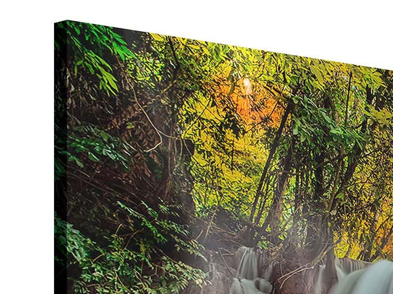 Panorama Acrylglasbild 3-teilig Fallendes Gewässer