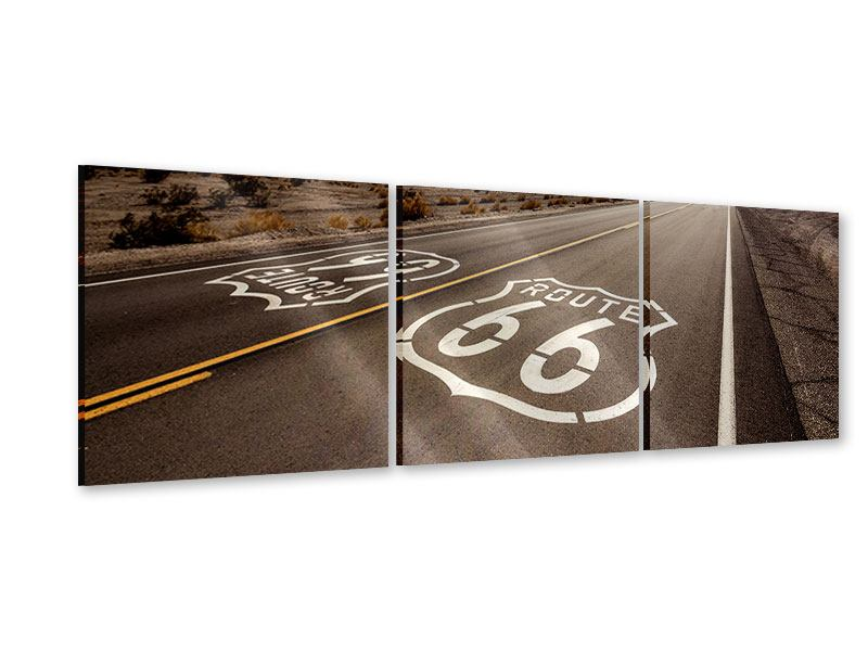 Panorama Acrylglasbild 3-teilig Route 66