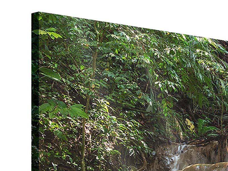 Panorama Acrylglasbild 3-teilig Mexikanischer Wasserfall