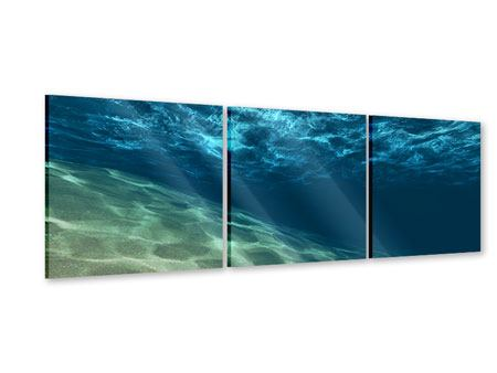 Panorama Acrylglasbild 3-teilig Unter dem Wasser