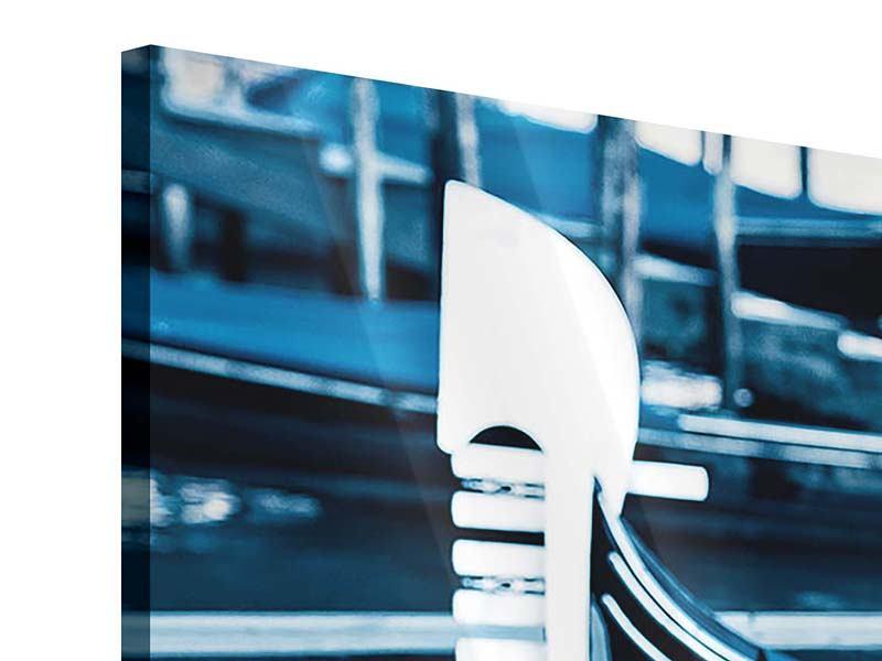Panorama Acrylglasbild 3-teilig Gondeln in Venedig