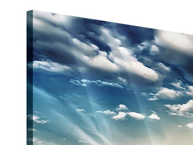 Panorama Acrylglasbild 3-teilig Skyline Über den Dächern von London