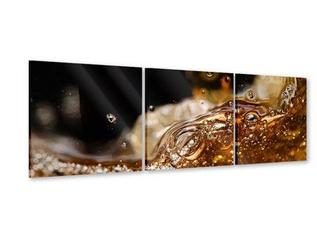 Panorama Acrylglasbild 3-teilig Cognac