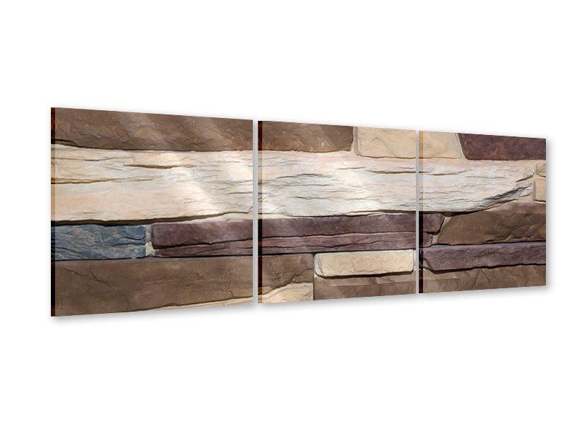 Panorama Acrylglasbild 3-teilig Designer-Mauer