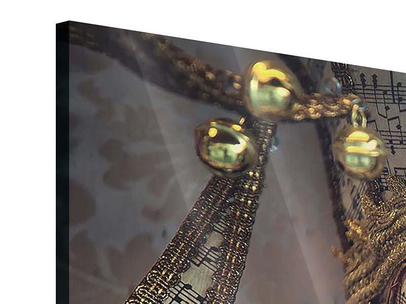 Panorama Acrylglasbild 3-teilig Venezianische Maske