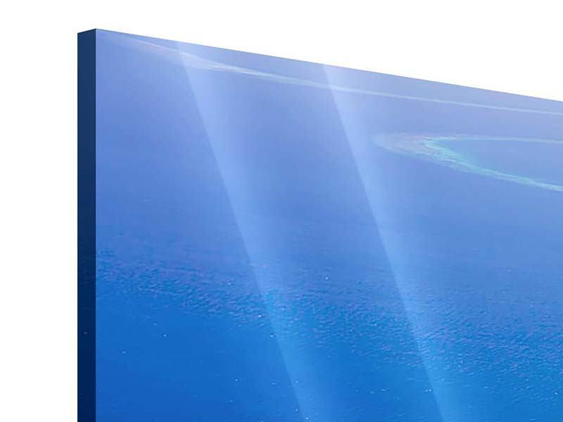 Panorama Acrylglasbild 3-teilig Reif für die Trauminsel