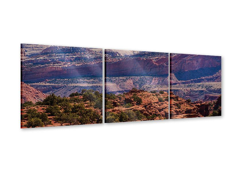 Panorama Acrylglasbild 3-teilig Bruce-Canyon-Nationalpark