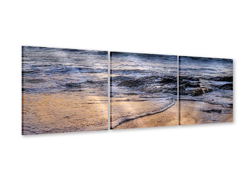 Panorama Acrylglasbild 3-teilig Das Meer