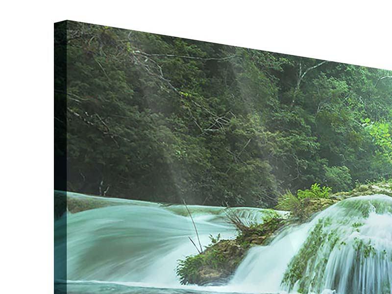 Panorama Acrylglasbild 3-teilig Gigantischer Wasserfall