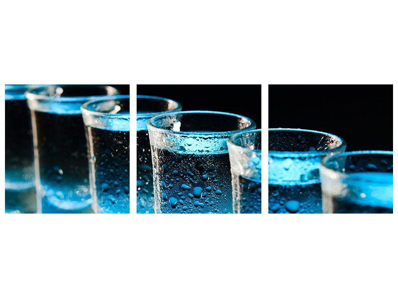 Panorama Acrylglasbild 3-teilig Wodka Pur