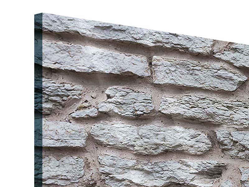 Acrylglasbild 3-teilig modern Steinmauer