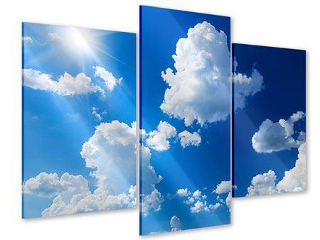 Acrylglasbild 3-teilig modern Himmelblau