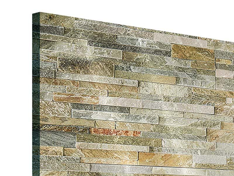 Acrylglasbild 3-teilig modern Edle Steinmauer