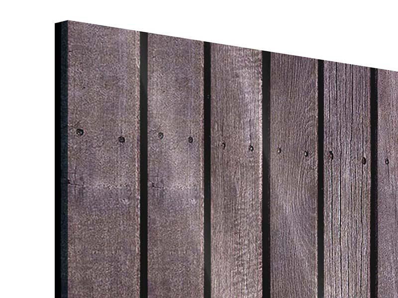 Acrylglasbild 3-teilig modern Holzwand
